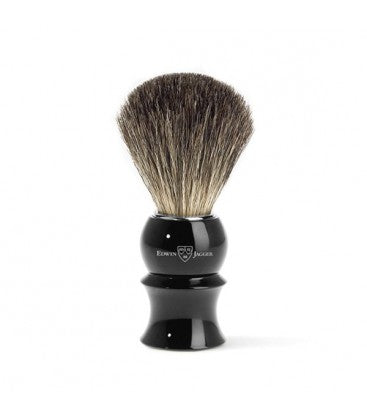 Shaving brush, plastic handle, imitation ebony, pure badger