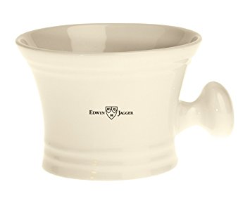 Ivory porcelain shaving soap bowl with handle - Edwin Jagger