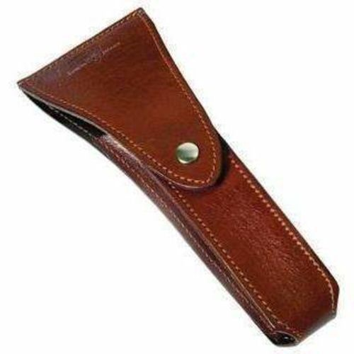Travel Case for razor, genuine leather, brown - Edwin Jagger