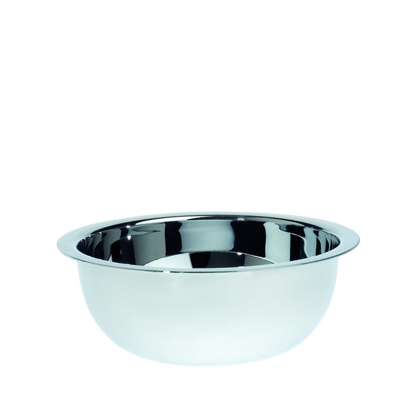 Polished stainless steel shaving soap bowl - Edwin Jagger