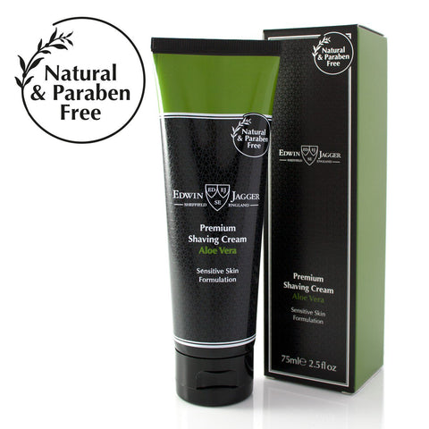 Natural Premium shaving cream, Aloe Vera, 75ml/2.5fl oz tube - Edwin Jagger