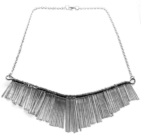 SALLY Tassel Necklace in Silver