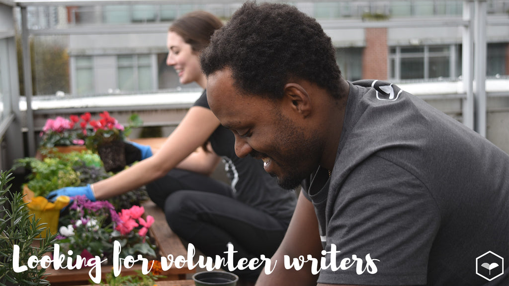 Looking for volunteer writers passionate about urban agriculture and solutions for sustainable cities