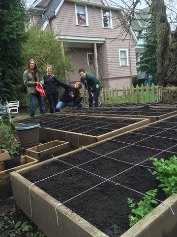 Garden Set up my green space raised bed square foot gardening
