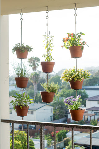 Vertical Clay Planters