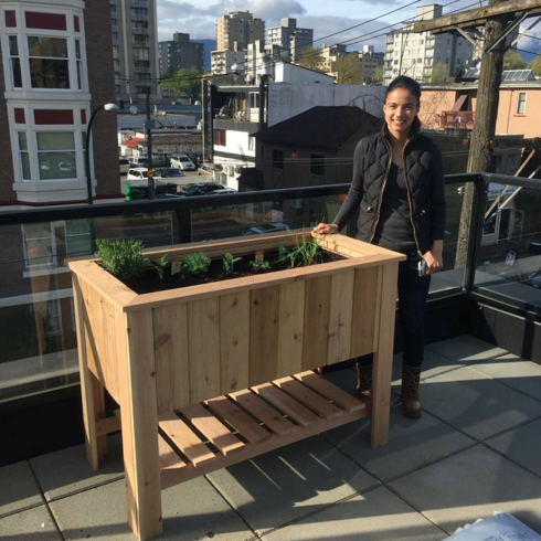 Cedar Table Garden Planter Box Kit