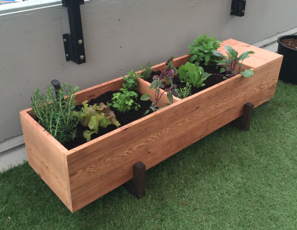 Premium Large Cedar Floor Planter
