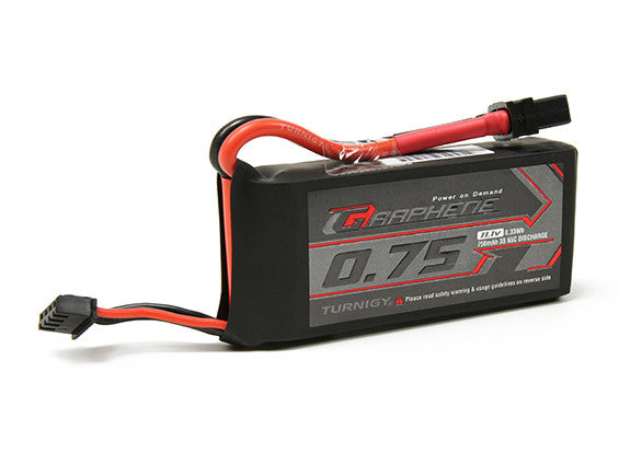 Turnigy Graphene 750mAh 3S 65C Lipo Pack (Short lead)