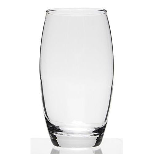 Set of 6 Large Clear Glass Water/Beverage Glasses, 17oz New