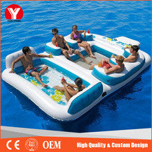2016 Cheap inflatable water floating sofa/ bed