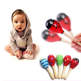 Cute Baby Kids Sound Music Gift Toddler Rattle Musical Wooden Colorful Toys