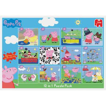 Jumbo Peppa Pig 12 in 1 Puzzle And Colour