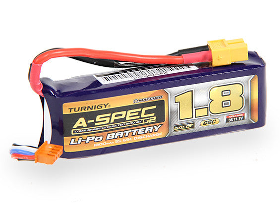 Turnigy nano-tech A-SPEC G2 1800mah 3S 65~130C Lipo Pack