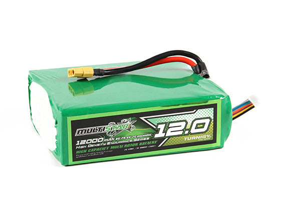 Multistar High Capacity Lightweight 8S 12000mAh 2C Multi-Rotor Lipo Pack
