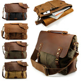 Style Men's Canvas Shoulder Casual School Military Messenger Travel Bag