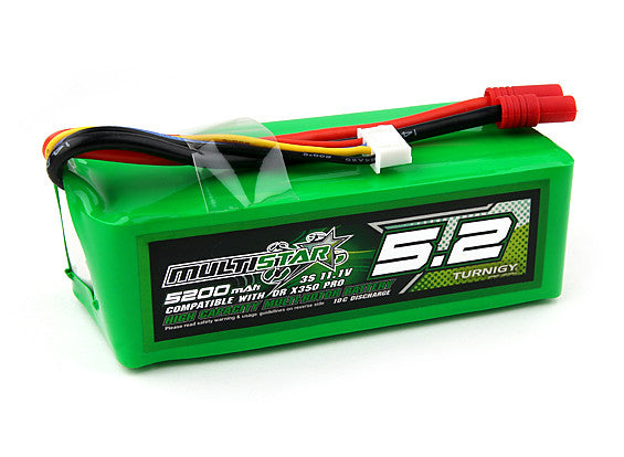 MultiStar High Capacity 3S 5200mAh Multi-Rotor Lipo Pack for QR X350 PRO