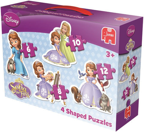Jumbo Disney Sofia The First 4 in 1 Shaped Jigsaw Puzzles