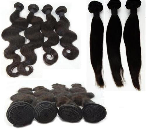 Peruvian Virgin Remy Human Hair Extensions Wefts 6A Unprocessed Real Human Hair