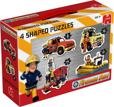 Jumbo Fireman Sam 4 in 1 Shaped Puzzles