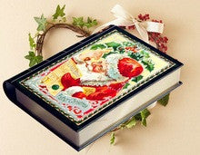 Christmas gift book shaped tin box
