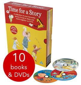 Walker Books Time For a Story Book and DVD Collection - 10 Books