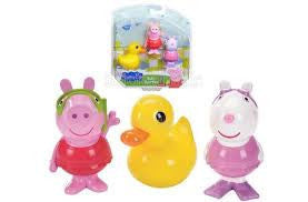 Fisher-Price Peppa Pig Bath Squirters - Peppa, Suzy Sheep and Ducky