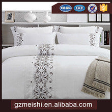 Luxury 5 star hotel embroider bed linen from China manufactor