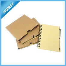 blank kraft paper cover spiral notebook wholesale