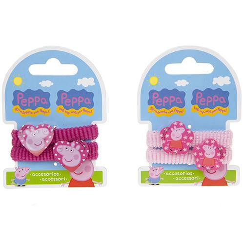 Lugar Difusion Peppa Pig 2pc Hair Band with Embellishment (PPG008HB)Pink/Fuchsia