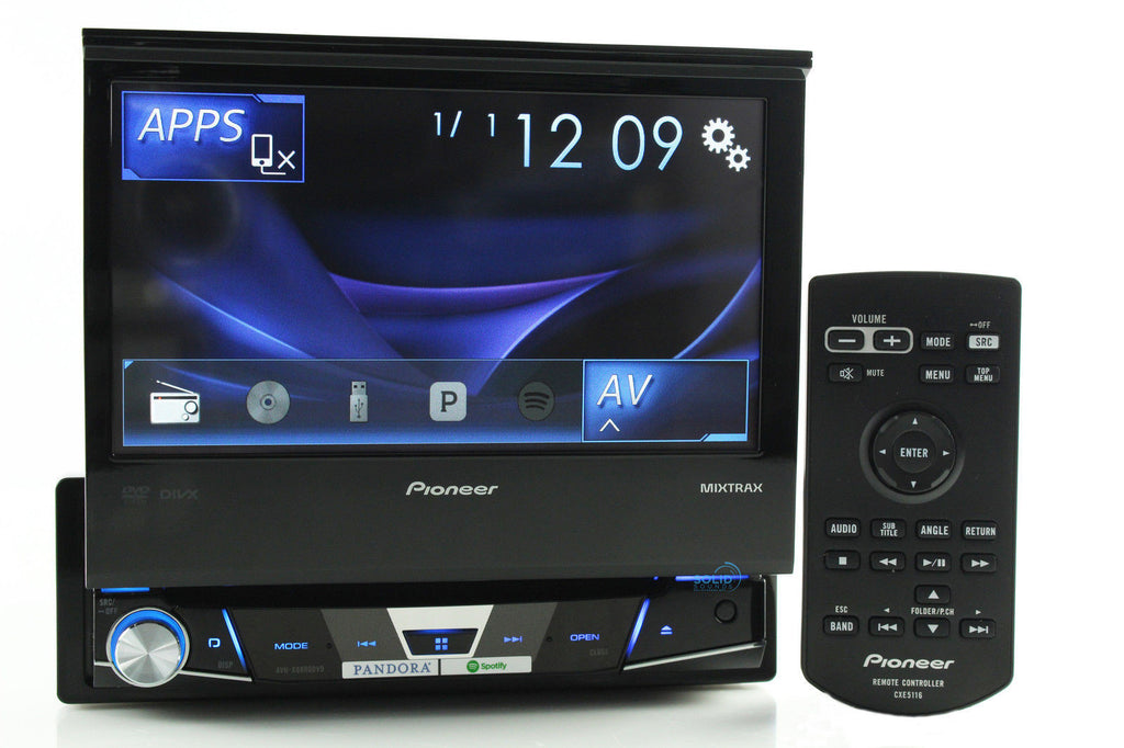 "New Pioneer AVH-X6800DVD 7"" Flip Out Dvd Cd Player Aux Usb 1 Din Car Audio"