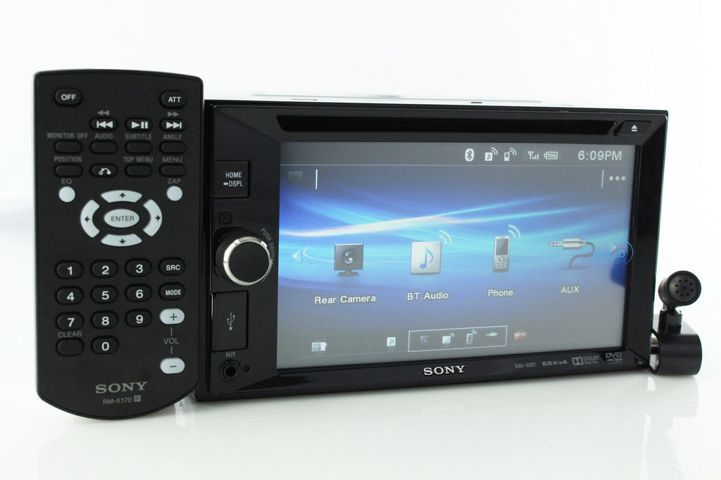 NEW Sony XAV-68BT 2 Din Bluetooth Car Stereo Touch In Dash DVD Player Car Radio