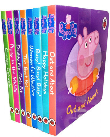 Ladybird Peppa Pig Children's Picture Flat 8 Board Books Collection The Best Pet