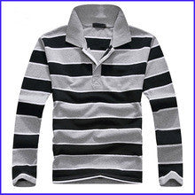 high quality flat knit stripe t-shirt with wholesale price color combination polo shirt