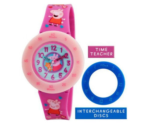 Entertainment One Peppa Pig Plastic Time Teacher Watch