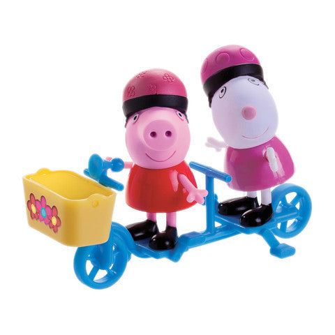 Jazwares Peppa Pig 3-inch Figure 2-Pack - Suzy Sheep Bicycle