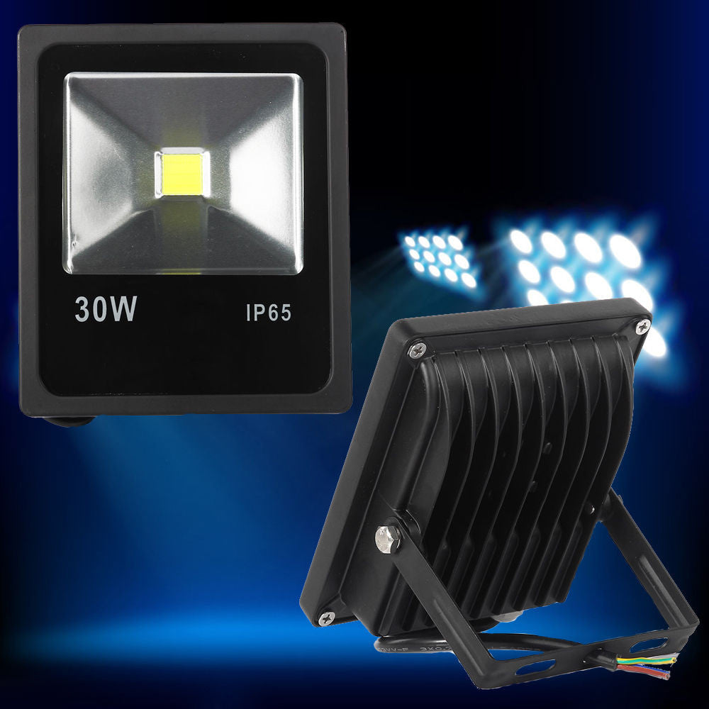 30W LED Flood Light Lamp Outdoor Garden Super Slim Waterproof