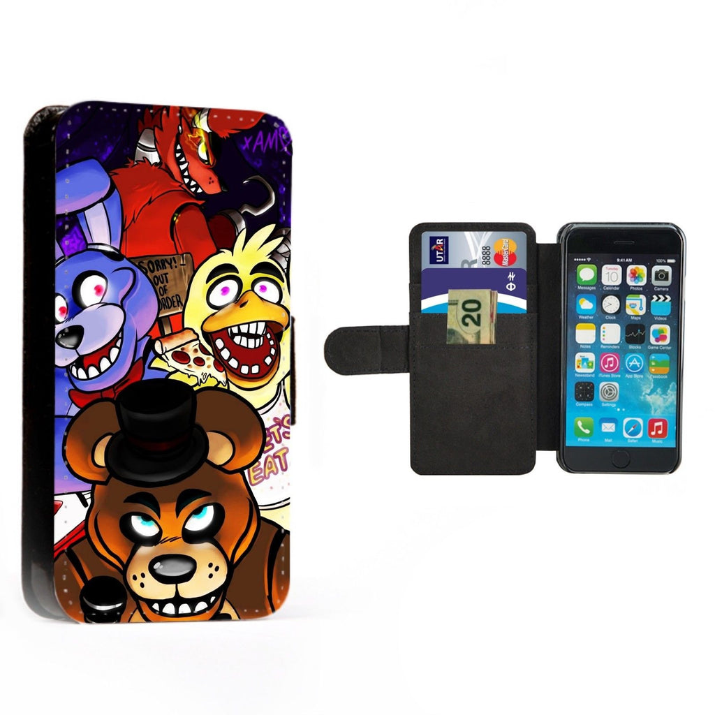 Five Nights at Freddy's Printed Faux Leather Flip Phone Case Cover Wallet