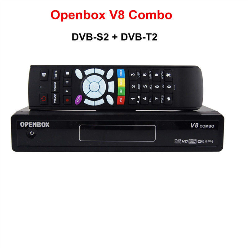 Genuine Openbox V8 COMBO HD Satellite FTA Reciver (DVBS2 + DVBT) HD Set Top Box