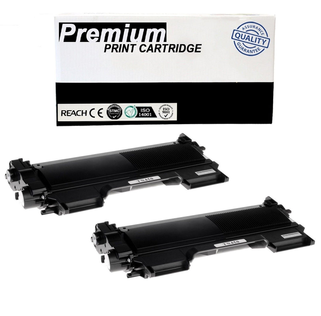 2pk TN450 Compatible High Yield Toner Cartridge For Brother TN-420