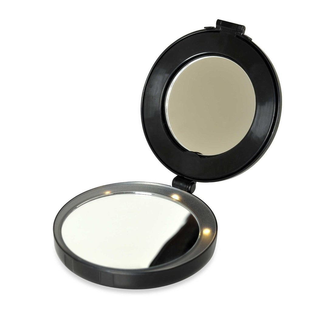 Mini 10x Magnifying Lighted Vanity Mirror
