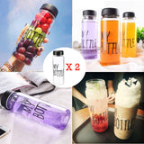 "MY BOTTLE"" 500ML Portable Clear Plastic Ice Fruit Juice Water Bottle Sport"