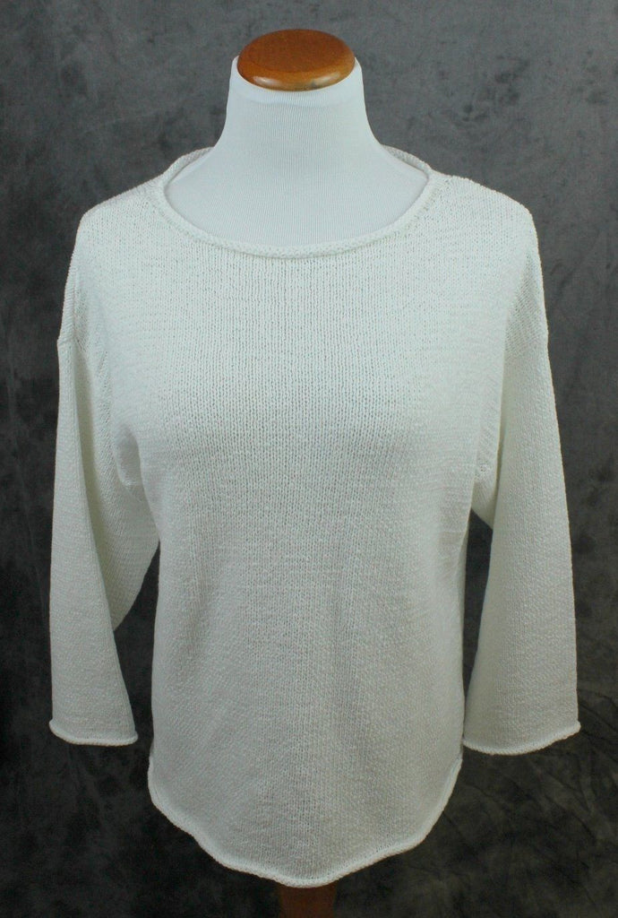 Eileen Fisher white cotton sweater