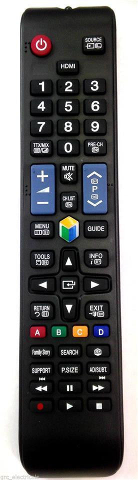 Universal NEW REMOTE CONTROL for SAMSUNG LED 3D SMART TV direct replacement