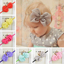 10 Packs Kids Girls Baby Toddler Headband Hair Bow Band Headwear Accessories
