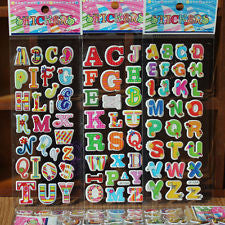 3x alphabet kids decorate Sponge stickers Adhesive Sticker cartoon tags -023