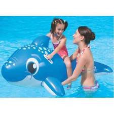 "63"" LARGE INFLATABLE RIDE ON DOLPHIN BEACH SWIMMING POOL TOY"