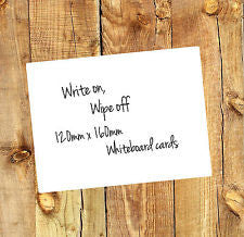 5 x Small Whiteboard cards for home, office, teaching aids 120mm x 160mm