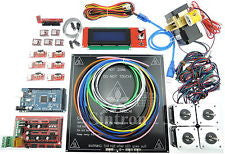 3D Printer Kit RAMPS 1.4, MK3 Heatbed, LCD2004, Motor, MK8 Extruder for Prusa i3