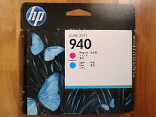 ORIGINAL HP 940 C4901A MAGENTA & CYAN PRINTHEAD PRINT HEAD. DATE: MAR 2016
