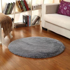 Bedroom Floor Mat Circle Round Shaggy Area Round Rug Living room Carpet 40cm